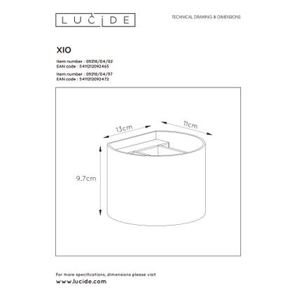 Lucide wandlamp LED Xio rond goud 3,5W