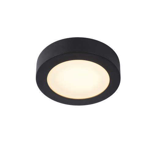 Lucide plafondlamp Brice-LED zwart Ø18cm 11W