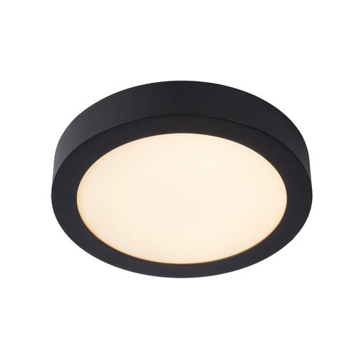 Lucide plafondlamp Brice-LED zwart Ø24cm 15W