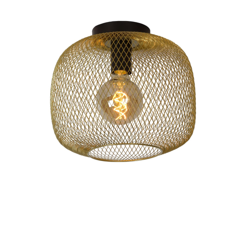 Lucide plafondlamp Mesh goud