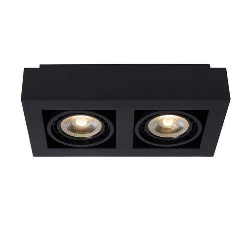 Lucide spot LED Zefix zwart 2x12W