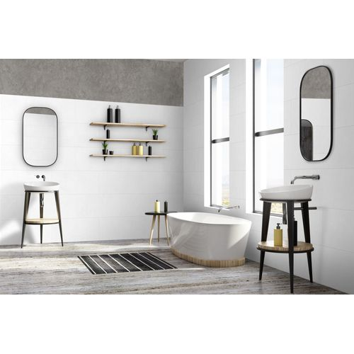 Grosfillex wandpaneel Wall+ PVC White Stone 17x120cm