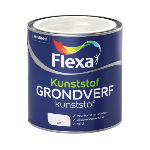 Flexa grondverf kunststof wit 250ml