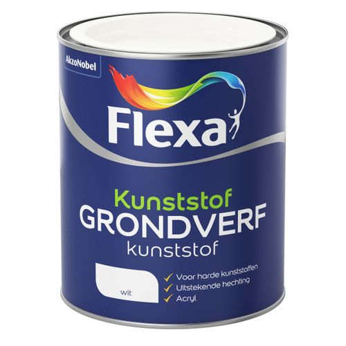 Flexa grondverf kunststof wit 750ml