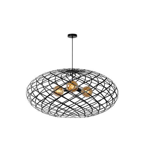 Lucide hanglamp Wolfram zwart Ø100cm