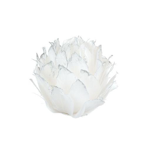 Clip Fleur blanc 8x12cm