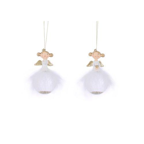 Ornement Ange blanc 6x11,5cm