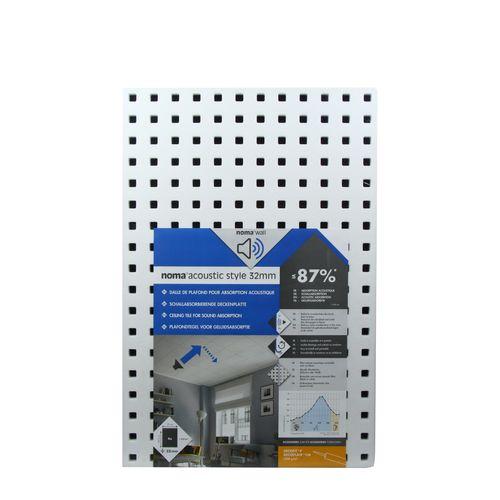 Dalle de plafond Noma Acoustic Style polystyrène 58,5x39x3,2cm
