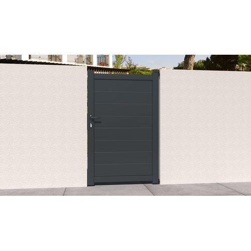 Portillon Gardengate Pallas 100x161cm aluminium gris anthracite