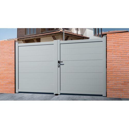 Portail double battant Gardengate Pallas gris 300x161cm