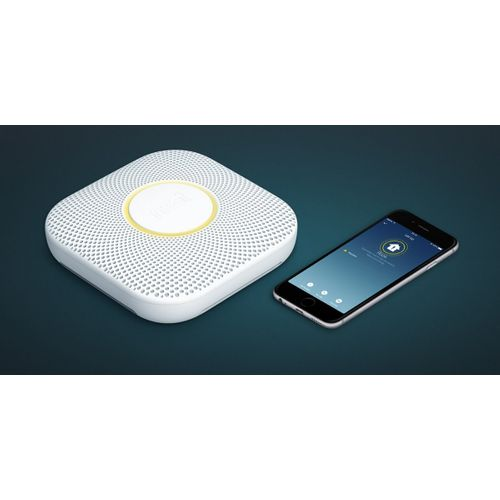 Google Nest rook‑ en koolmonoxidemelder Protect + batterij