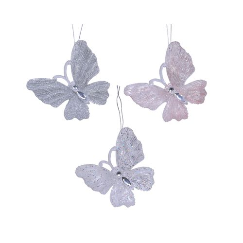 Hangertjes vlinder plastic 10cm 1 stuk