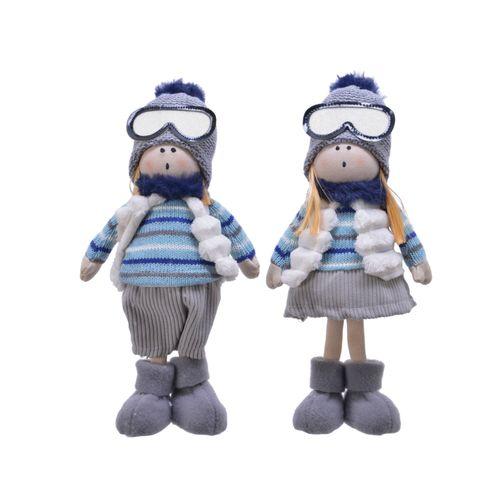 Peluche enfant avec lunettes de ski 1pièce