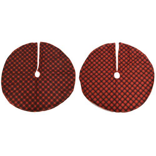 Couverture polyester pour pied de sapin rouge 120cm 1 pièce