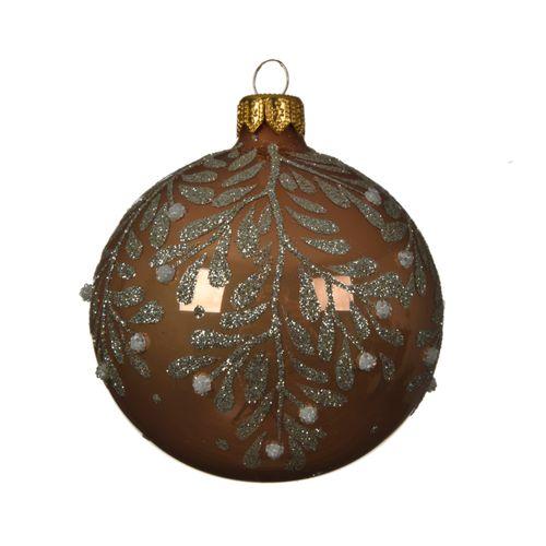 Boule de Noël Decoris verre 8cm