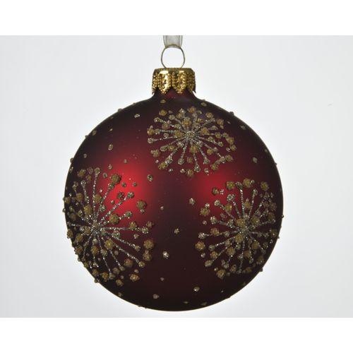 Boule de Noël en verre Etoile rouge 8cm