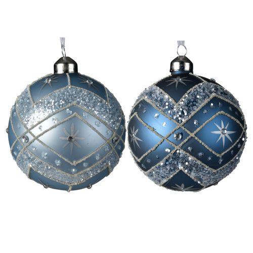Boules de Noël en verre Flocon 10cm 3 pièces