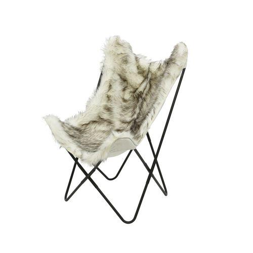 Chaise papillon Decoris gris 69x81x103cm