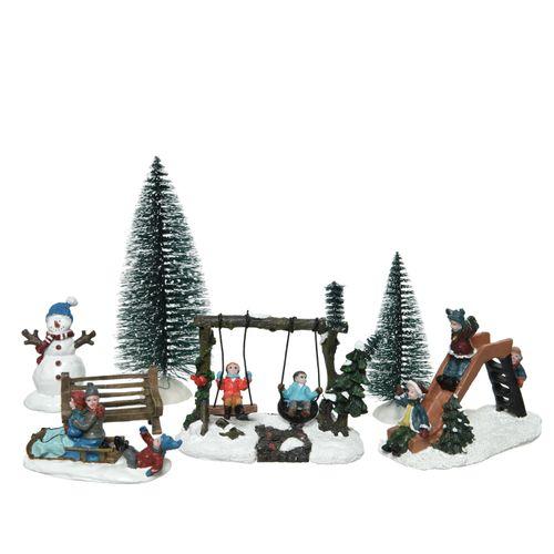 Figurines scène de Noël Decoris 7pcs