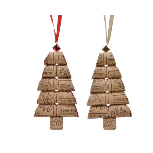 Suspension de Noël sapin Decoris 2x7x12cm 1pièce