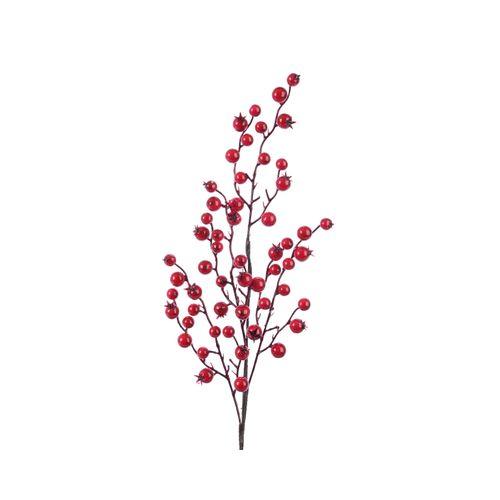 Décoration Branche Baies rouges 60cm