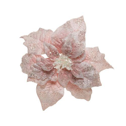 Clip Poinsettia roze 16cm 1 stuk
