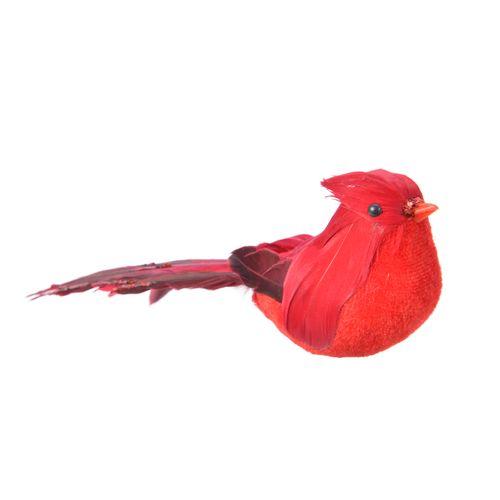 Vogel rood veer 20cm