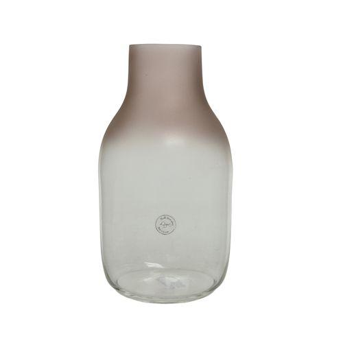 Vase ovale en verre clair 35cm