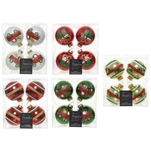 Boules de Noël verre 6,5cm 4pcs