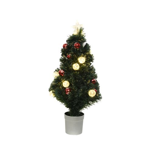 Mini Kerstboom Fiber Optic warm wit 90cm