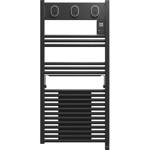 Radiateur sèche-serviettes + ventilateur Sauter Marapi gris anthracite 1500W