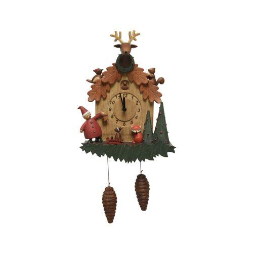 Figurine de Noël Horloge Maison marron 47cm