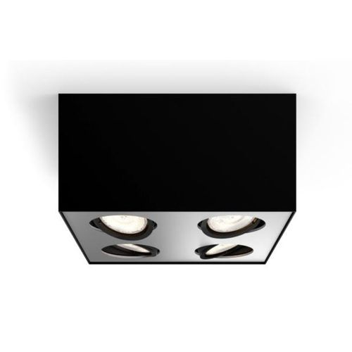 Spot Philips LED Box noir 4x4,5W