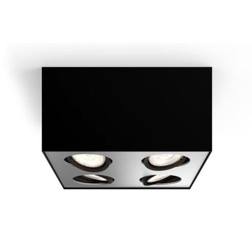 Spot Philips LED Box noir 4x4,5W