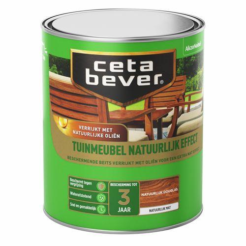 CetaBever beits Tuinmeubelbeits natuurlijk effect Douglas 750ml
