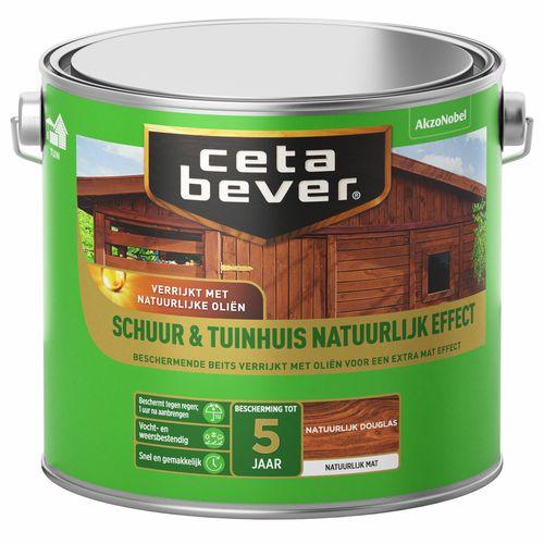 CetaBever beits Schuur & Tuinhuis transparant natuurlijk effect douglas 2,5L