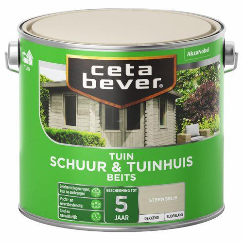 CetaBever schuur & tuinhuis beits transparant steengrijs 2,5L