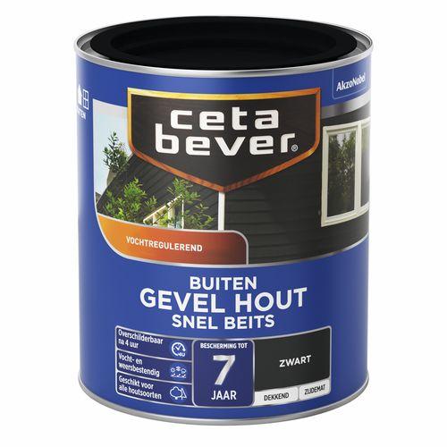 CetaBever snelbeits gevel hout zwart 750ml
