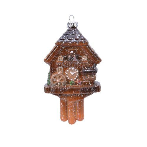 Decoris kersthanger koekoeksklok kunststof 11,5cm