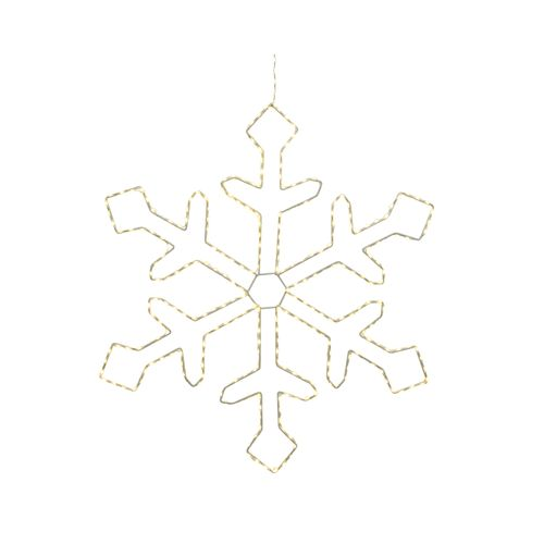 Kerstverlichting vlok warm wit micro LED 37cm