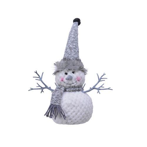 Bonhomme de neige blanc 35cm