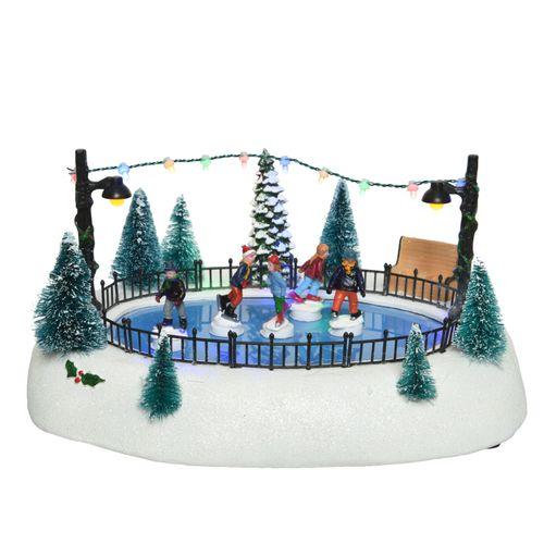 Figurine de Noël Patinage de table avec LED 27cm