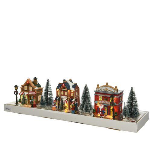 Figurine de Noël Tableau Hiver LED 58cm