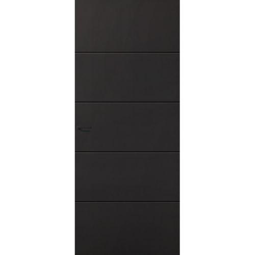 CanDo Capital binnendeur Providence zwart stomp rechts 78x211,5 cm