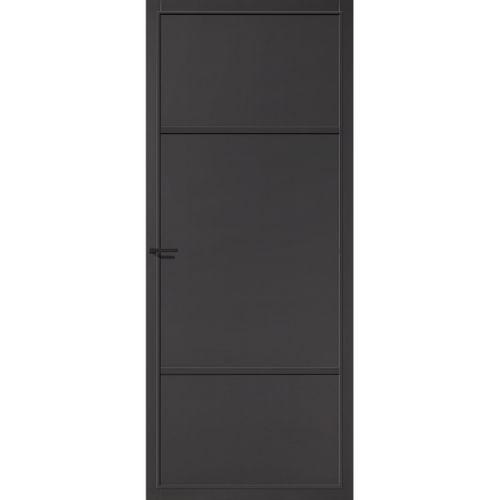 CanDo Capital binnendeur Richmond zwart opdek links 88x201,5 cm