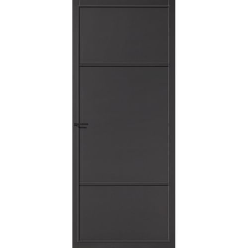 CanDo Capital binnendeur Richmond zwart opdek links 88x211,5 cm