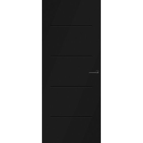 CanDo Capital binnendeur Rabat zwart stomp links 88x211,5 cm