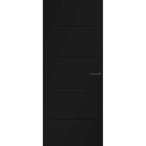 CanDo Capital binnendeur Rabat zwart stomp links 88x231,5 cm
