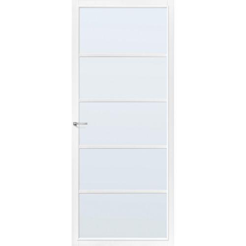 CanDo Capital binnendeur Springfield wit mat glas opdek rechts 83x201,5 cm