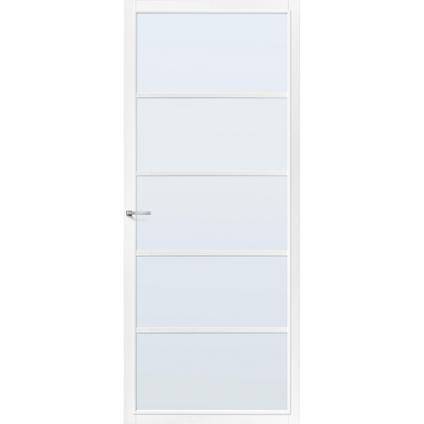 CanDo Capital binnendeur Springfield wit mat glas opdek rechts 78x211,5 cm